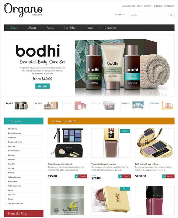 online beauty woocommerce template