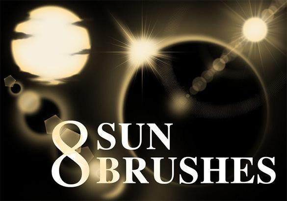 8 sun brushes