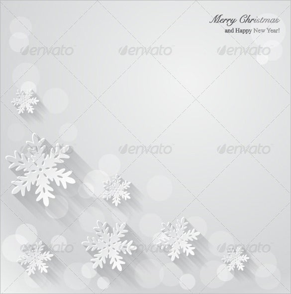 christmas background with paper snowflake template psd