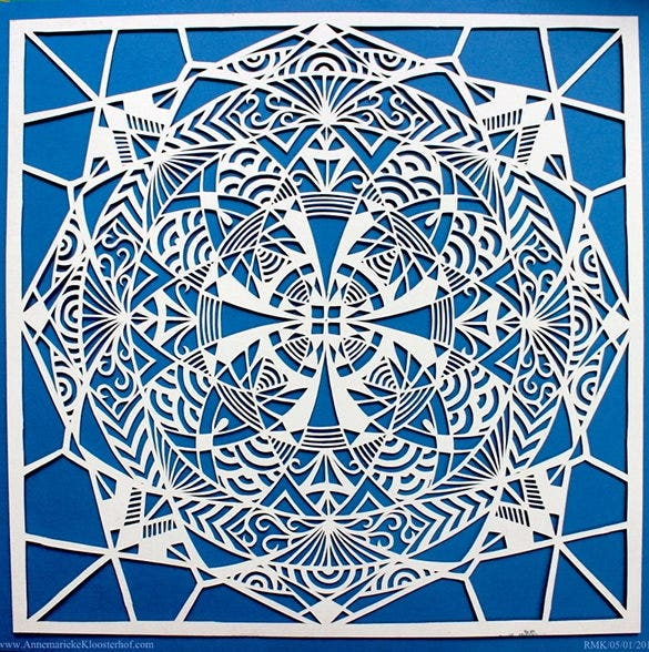 download mandala paper snowflake template