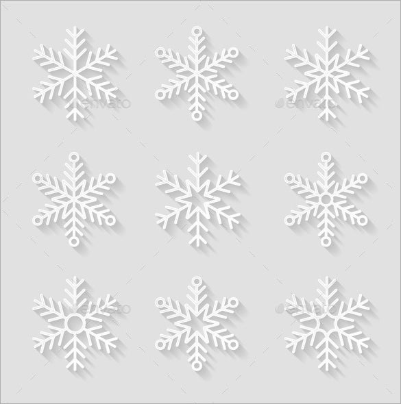 decorative paper snowflake template eps download