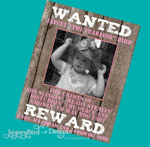 personalized western wanted poster template