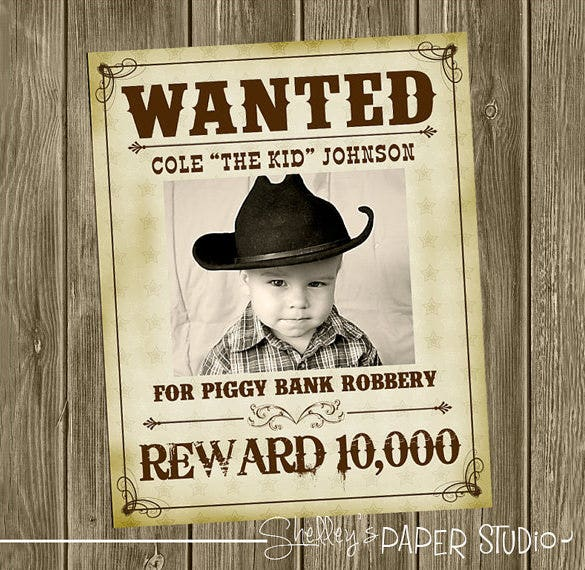 wanted western cowboy poster download