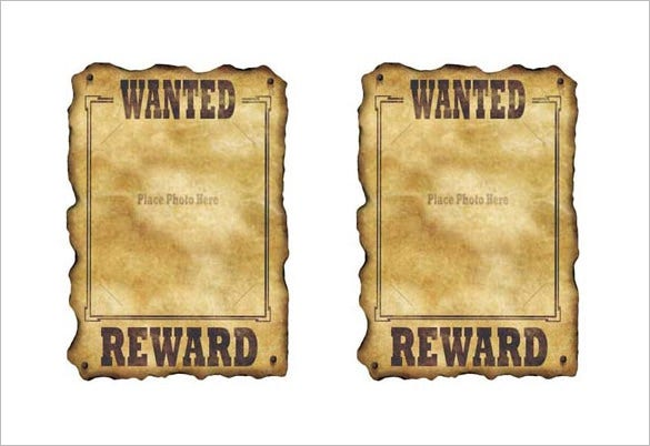 18+ Western Wanted Poster Templates U2013 Free Printable, Sample