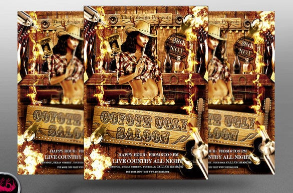 western wanted poster psd template download1