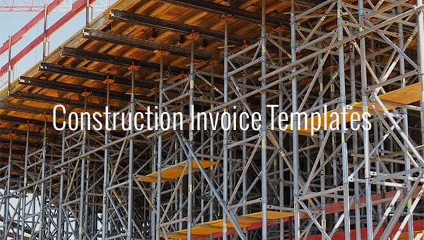 construction invoice templates