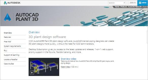 autocad plant 3d designing software