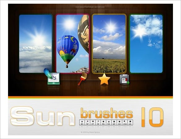 10 glaring sun brushes