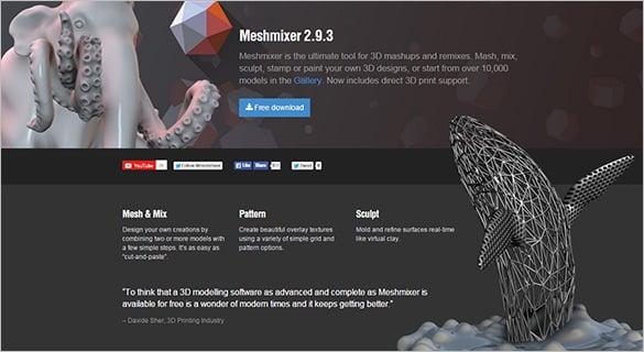 meshmixer 3d mashup software