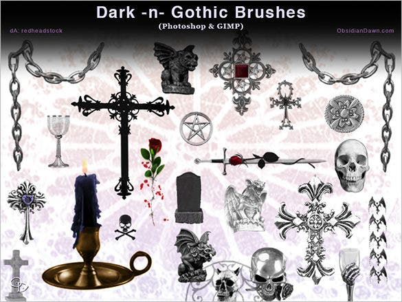 29 gothic skull brushes