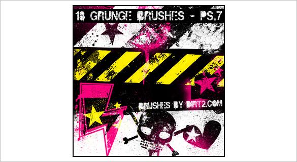 18 grunge skull brushes