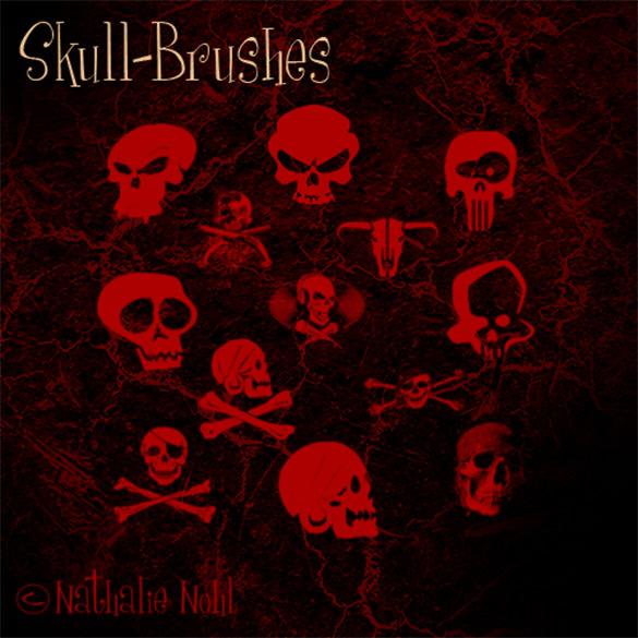 13 self made skull brushes