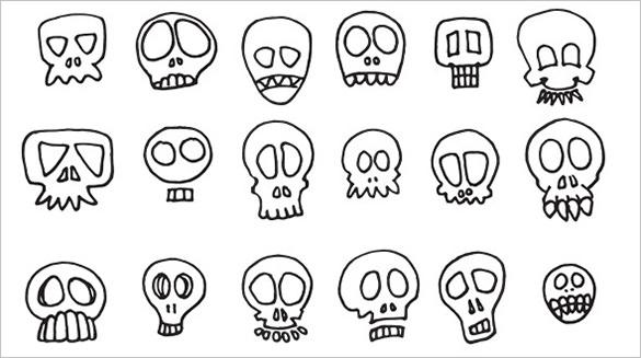 40 skull brushes