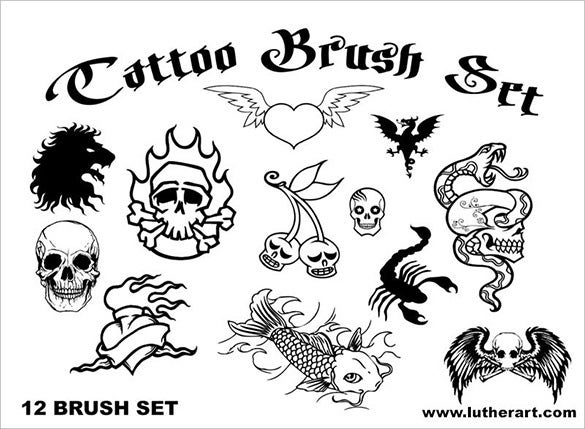 tattoo skull brushes