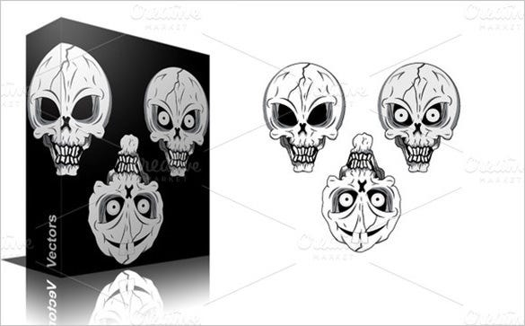 beautiful skull brushes