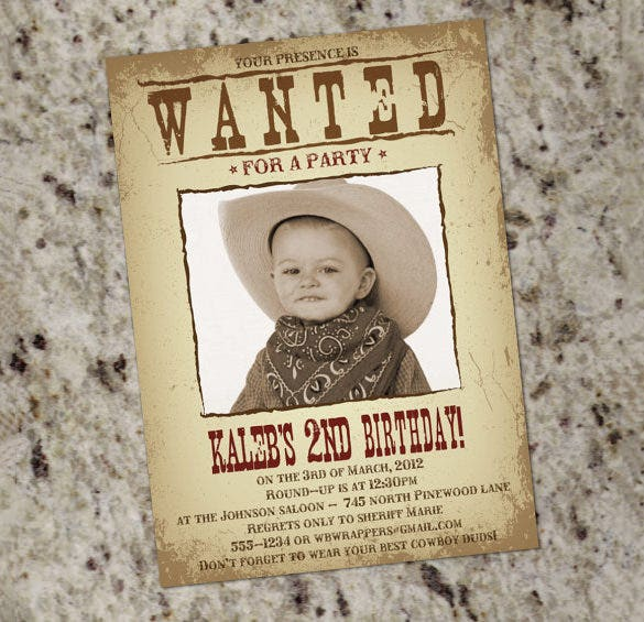 old wanted party poster template download