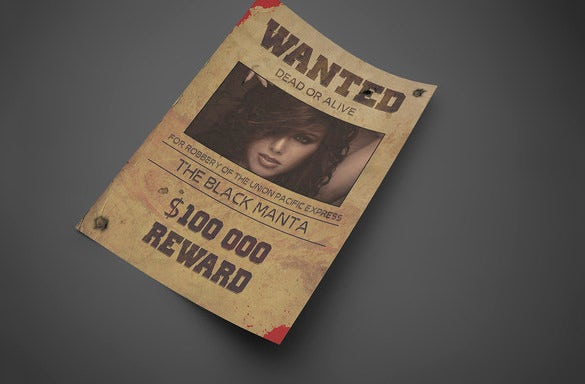 old west style wanted poster download