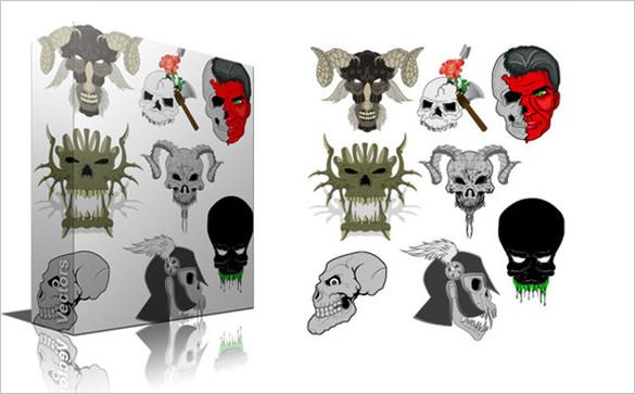 skull design brushes
