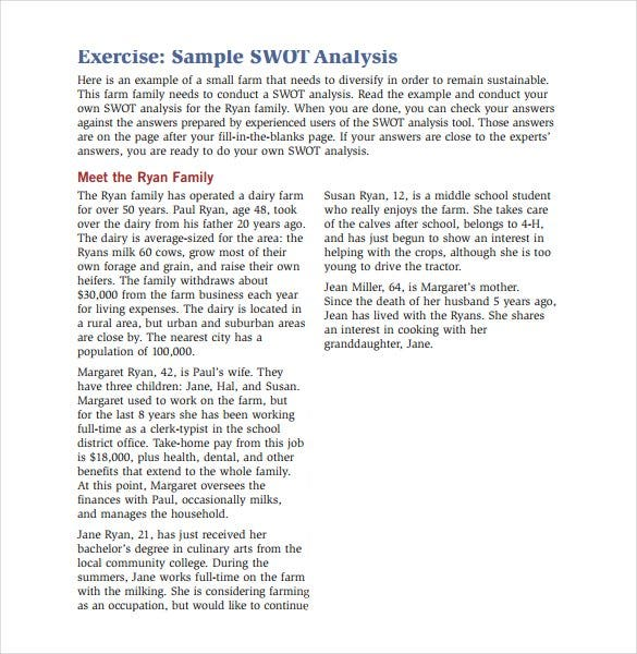 sample-swot-analysis-exercise