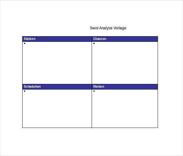 downloadable swot analysis table