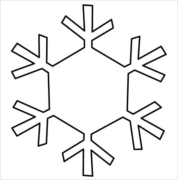 snowflake template free download