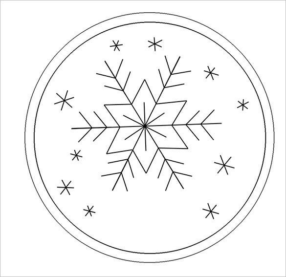 download snowflake ornament template