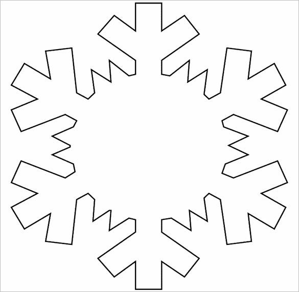 Christmas Snowflake Decorations Template