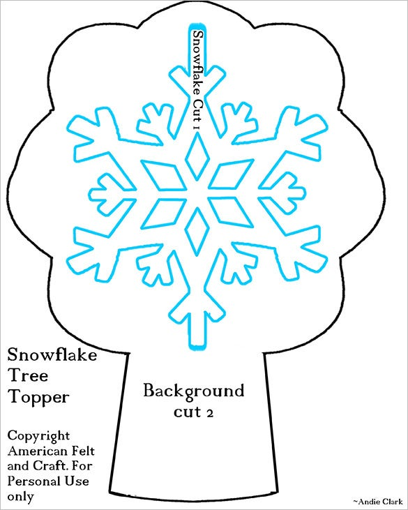 download tree topper snowflake template