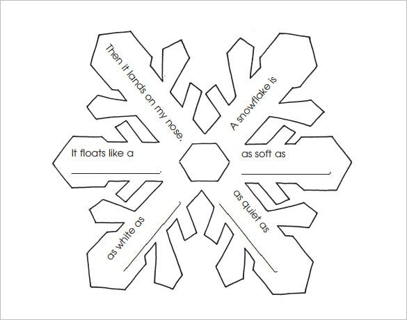 snowflake poetry frame pdf download