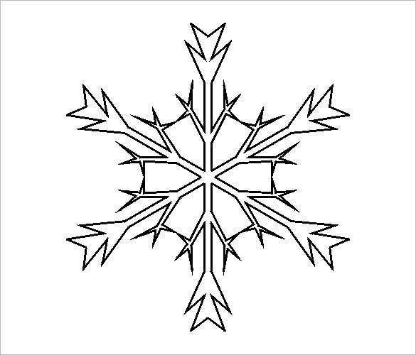 frozen elsa snowflake template download