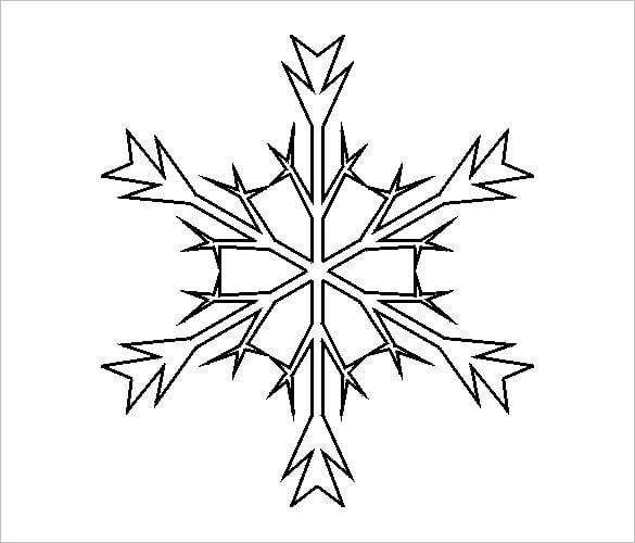 14 free snowflake templates pdf free premium templates