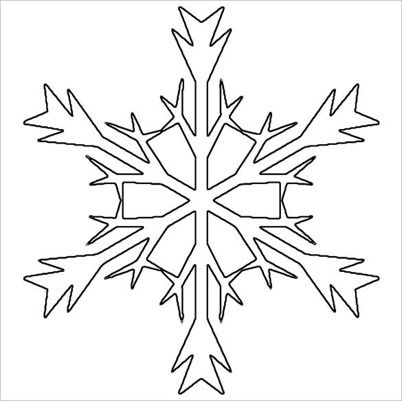 free download snowflake stencil