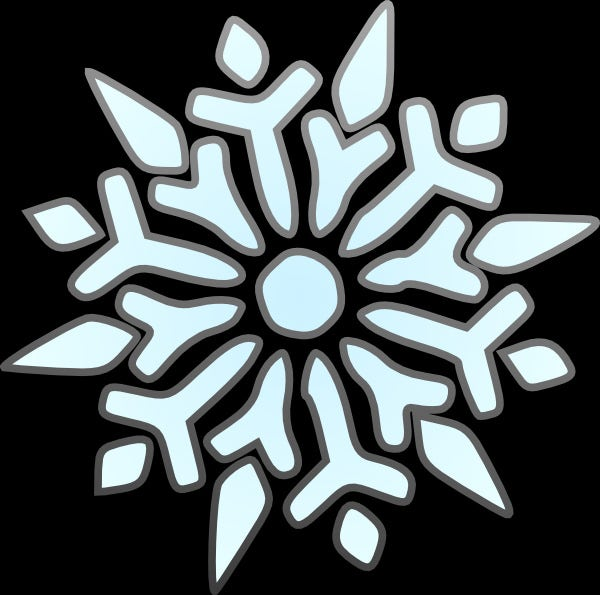 erik single snowflake template for free
