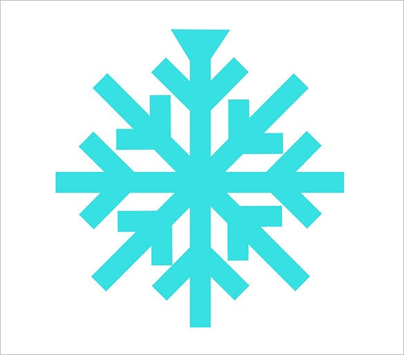 free simple snowflake outline template