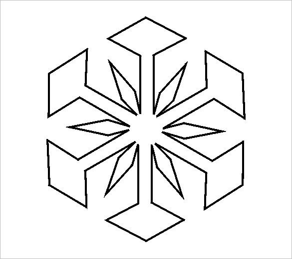 free stencil snowflake template
