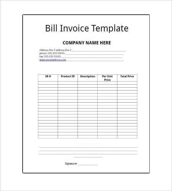 billing invoice template - solarfm.tk