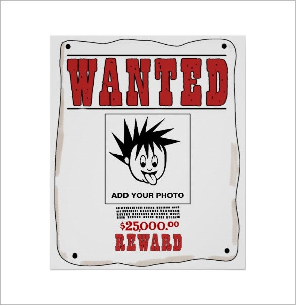 funny custom wanted poster template