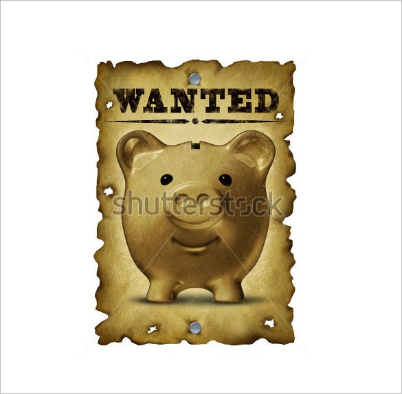 funny savings wanted poster template download