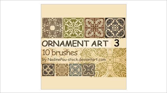 10 ornament art photoshop brushes