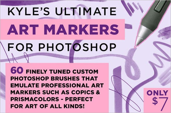 60 art maker photoshop brushes