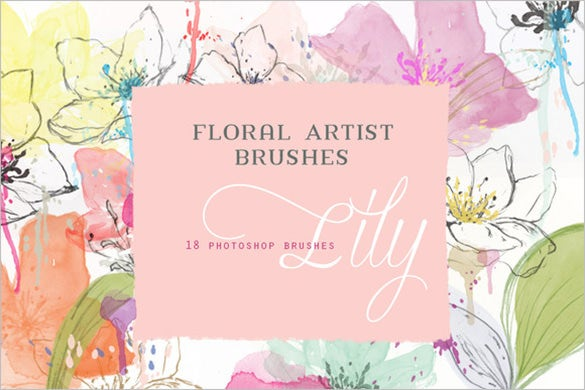 18 floral art photoshop brushes