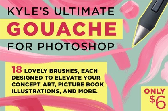 18 lovely art photoshop brushes