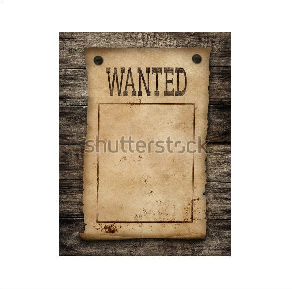 wanted dead or live blank poster template