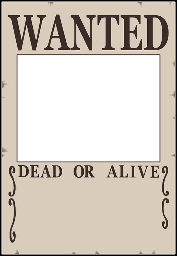 Blank Wanted Poster Download  Free Wanted Poster Template Download