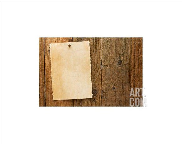 old rustic blank wanted poster template