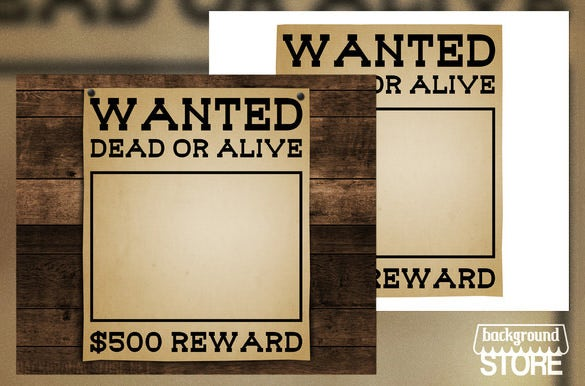 wanted blank poster background template