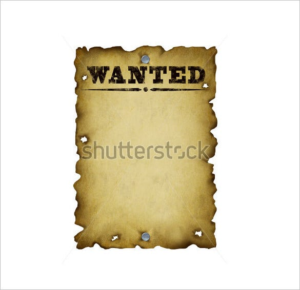 Printable blank wanted poster template
