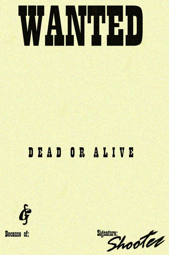 Wanted Poster Template Se Busca Vivo O Muerto Wanted Dead Or Alive