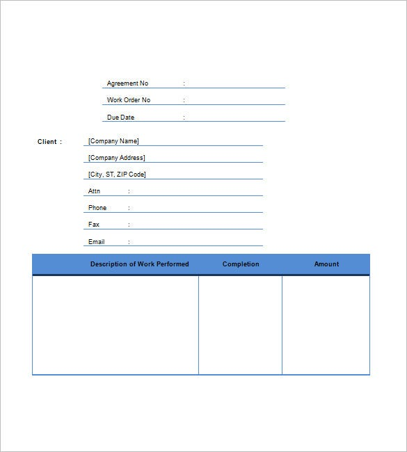 Contractor Invoice Template Free Sample Example Format - Contractor invoice template
