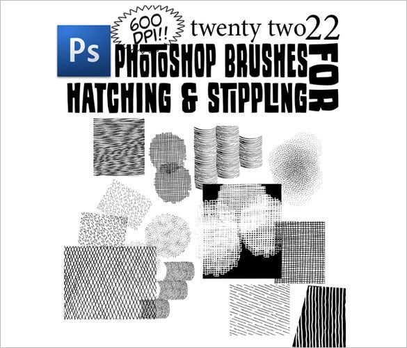 22 stipple photoshop brushes